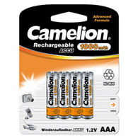 Camelion AAA Ni-Mh 1000 mAh Rechargeable Batteries 4 pack