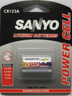 10x SANYO CR123A Lithium Battery