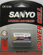 2  SANYO CR123A Lithium Battery