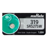 1 x Murata SR527SW (319) 1.55v Silver Oxide Batteries (1 Battery)