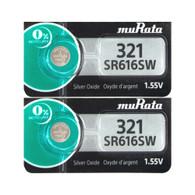 2 Murata 321 (SR616SW) Silver Oxide Watch Battery Fast USA Shipping 1.55V