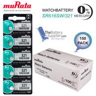 150 Pieces Murata 321 Sr616sw Silver Oxide Watch Batteries 1 55 volt Exp 2022
