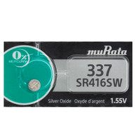 1 x Murata 337 Silver Oxide battery 1.55V SR416SW SR416 D337 Watches 0% Mercury
