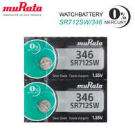 2 MURATA 346 SR712SW BATTERIES SILVER OXIDE 1.55V SONY WATCH BATTERY 2022 NEW