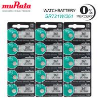 361 x 15 NEW! Murata Silver Oxide Batteries 1.55V - SR721SW, 361, SR721W