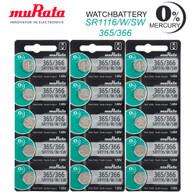 15PC Murata 365 366 SR1116W Silver Oxide Watch Battery