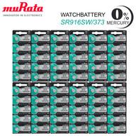 60 x MURATA 373/SR916SW Silver Oxide Batteries 1,55V