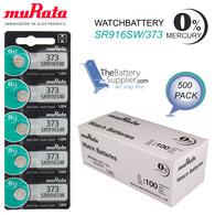 373 MURATA WATCH BATTERIES (500 pieces) SR916SW New AuthorizedSeller Wholesaele Pack