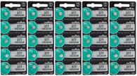 25 x FRESH MuRata 377 376 WATCH BATTERY SR626SW SR626W Silver Oxide Battery