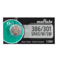 Murata 386 301 Silver Oxide Button Cell Watch Battery SR43SW (1 Pack)