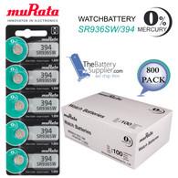 Murata 394 Batteries SR936SW 0 Mercury Silver 1.55V Japan Ship USA Fresh 800 Wholesale Pack