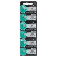 6 x 397 Murata Silver Oxide 0% Mercury Electronic Batteries SR726SW
