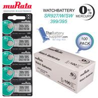 Murata 395 (SR927SW) 1.55V Silver Oxide Watch Battery (100 Pack)