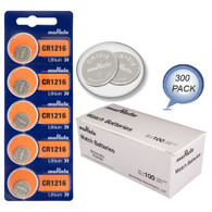 Murata cr1216 replacement for Sony Lithium Battery CR1216 1216 3V 300 Pack