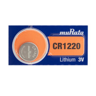 Murata CR1220 Lithium Coin Cell Battery - 40mAh - 1 Piece Blister Pack
