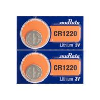 2 NEW MURATA CR1220 3V Lithium Coin Battery Expire 2028 FRESHLY NEW - USA Seller
