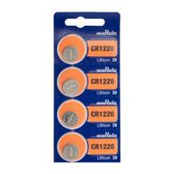 Murata CR1220 3V Lithium Coin Cell (4 Battery)