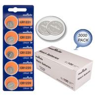 3000 Genuine Murata CR1220 3v Lithium 1220 Coin Batteries Expires 2027 Wholesale Pack