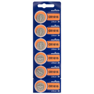 6 x Murata CR1616 Button Battery, 3V, 16mm Diameter