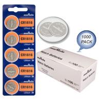 1000 NEW MURATA CR1616 3V Lithium Coin Battery FRESHLY NEW - Wholesale Pack