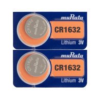 Murata CR1632 Lithium Coin Cell Battery (2 Pack)