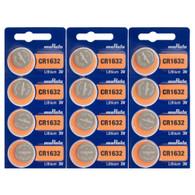 12 Pcs CR1632 CR 1632 - 3V Murata Lithium Button Cell Battery Batteries - BRAND