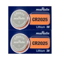 2 Murata Sony CR2025 3V Lithium Coin Cell Battery
