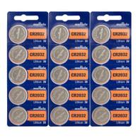 15 x Murata CR2032 Lithium Coin 3V Battery