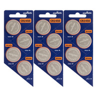 12 x CR2450 Battery By muRata - 3V Lithium Coin Cell