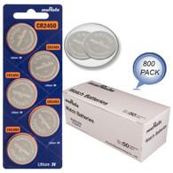 800 NEW MURATA CR2450 3V Lithium Coin Battery Expire 2027 FRESHLY NEW - USA Seller Wholesale Pack