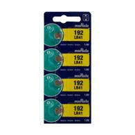 Murata LR41 192 4-Pieces Alkaline Button Coin Battery