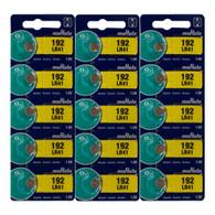 Murata LR41 (192) 1.5V Alkaline Button Cell Battery (15 Pack)
