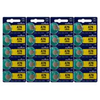 20 Pack Murata LR44 - A76 - Alkaline Button Cell Battery