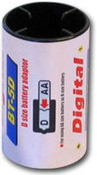 Tenergy Size D AA Battery Adapters 4 Pack