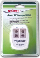 Tenergy 9V Smart Charger for Batteries with 4 Batteries