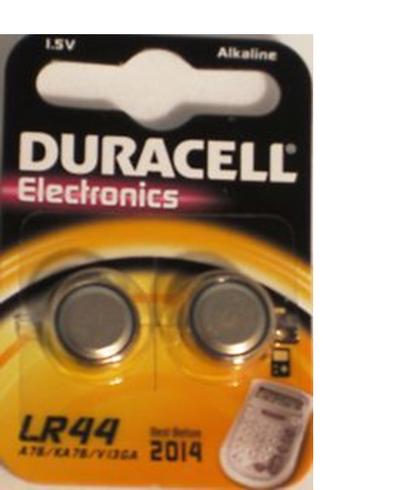 Duracell LR44 Alkaline Batteries Pack of 2 - TheBatterySupplier.Com