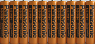 Panasonic NiMH AAA Rechargeable Battery for Cordless Phones x 10 batteries