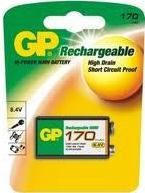 GP Rechargeable 9V Nimh 170 MAH Hi Power Battery