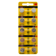 Kodak AG13/LR44 Alkaline Button Cell Battery - 10 pack
