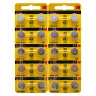 Kodak LR44 - AG13 Alkaline Button Battery 1.5V - 20 Pack