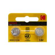 Kodak LR1130 AG10 1.5V Super Max Alkaline, (2-Batteries)