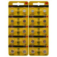 Kodak LR41 AG3 Alkaline Button Cell Battery 20 Pieces
