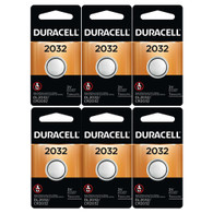 Duracell  BR2032/KCR2032 Battery, Lithium, 3v, Coin cell 6 pack