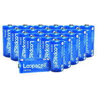 20 Loopacell CR123  Replace Energizer CR123 2/3A 3V Lithium Batteries