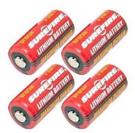 SureFire 123 cr123 CR123A SF123A 3-Volt Lithium flashlight Battery (4-pack)