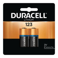 DL123A Duracell Ultra Lithium 2 Batteries-CR123A (packaging may vary)