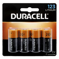 Duracell Ultra DL123A CR123A 1470mAh 3V Lithium (LiMNO2) Button Top Photo Battery 4PCS (packaging may vary)
