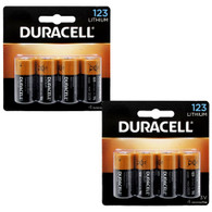(4 X 2) 8 Pack Duracell Ultra Lithium CR123A CR17345 EL123 3V Batteries EXP:2026 (packaging may vary)