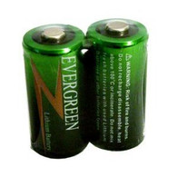 2 Evergreen CR123 CR123A DL123 3V Batteries