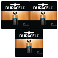 3 x Duracell DL123A Ultra Lithium Batteries (CR123A) (packaging may vary)